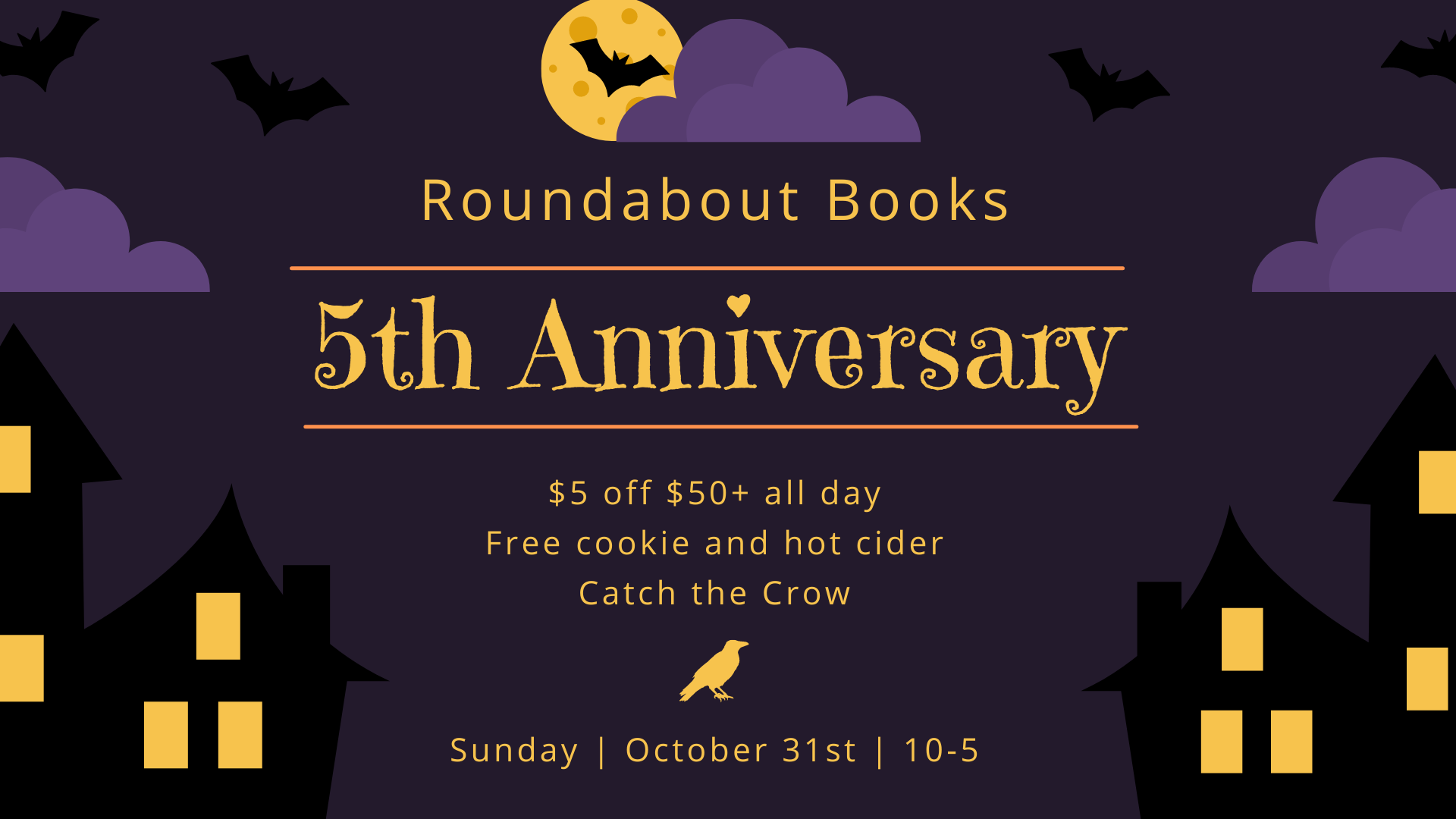 Banner Image promoting Bookstore Anniversary.