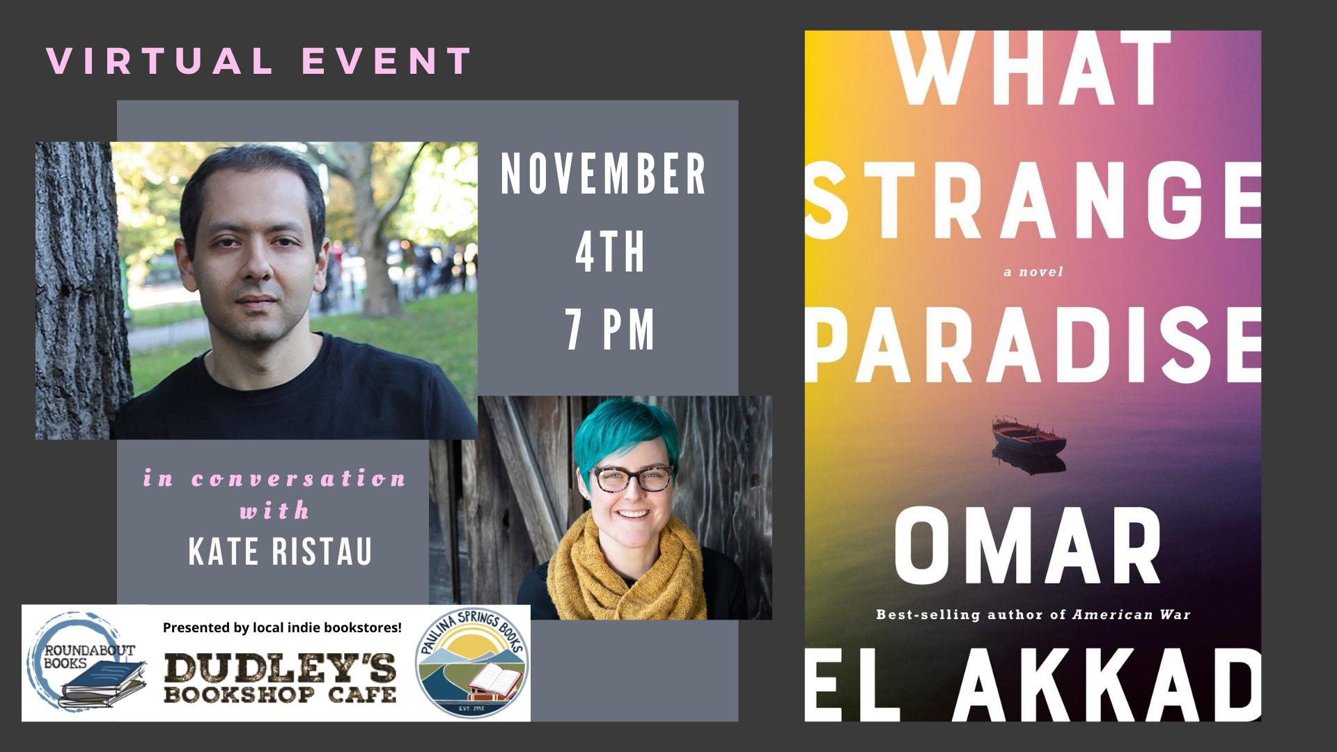 Banner Image promoting Omar El Akkad Event.